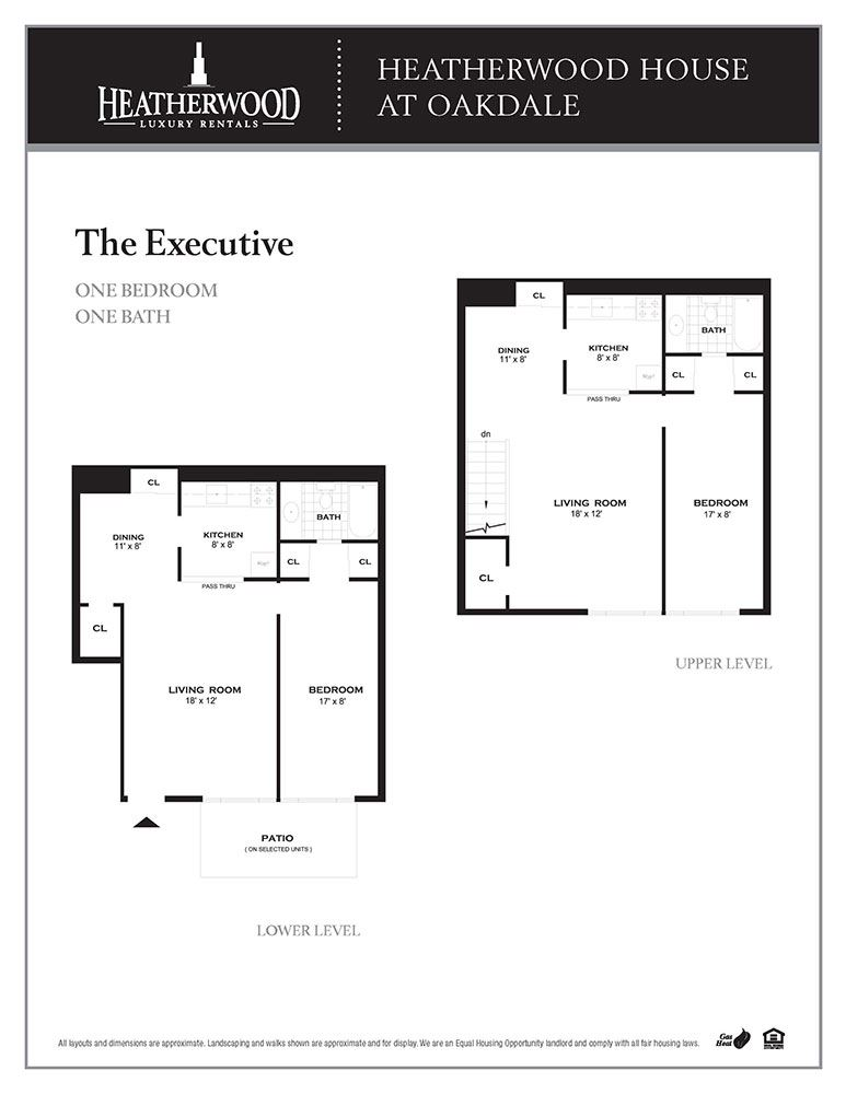 The Executive Floorplan at Heatherwood House at Oakdale, Bohemia, 11716