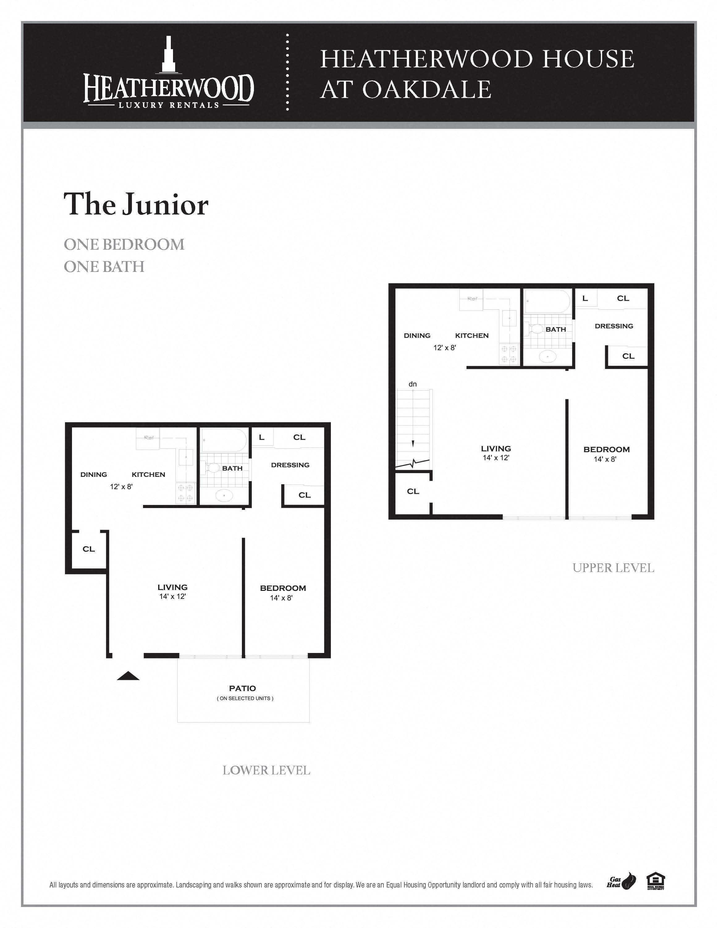 The Junior Floorplan at HH Oakdale