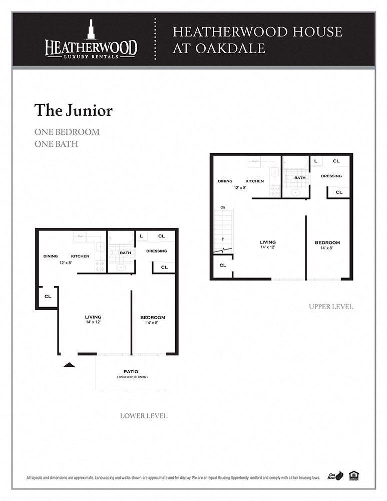 The Junior Floorplan at Heatherwood House at Oakdale, Bohemia, NY