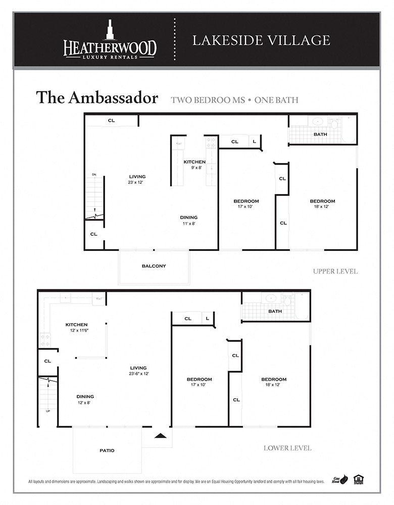 The Ambassador Floorplan at Lakeside Village, East Patchogue, New York