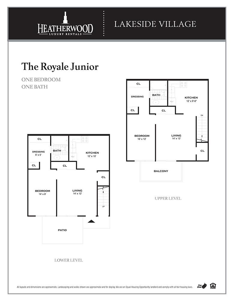 The Royale Junior Floorplan at Lakeside Village, East Patchogue, 11772