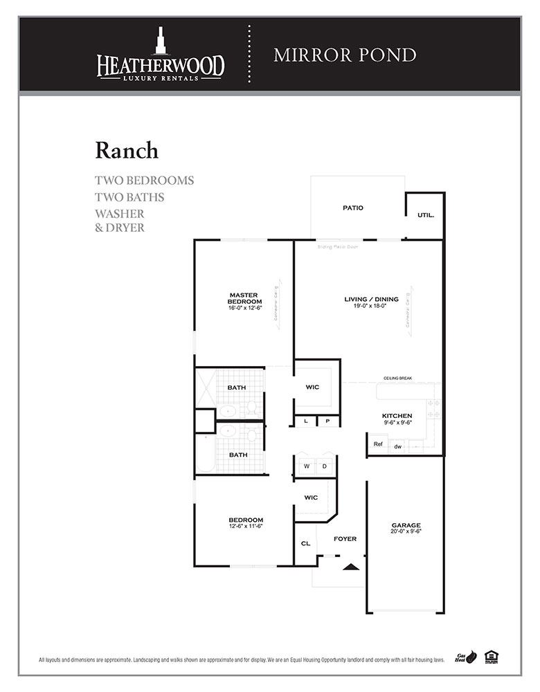 The Ranch Floorplan at Mirror Pond, Moriches, NY, 11955