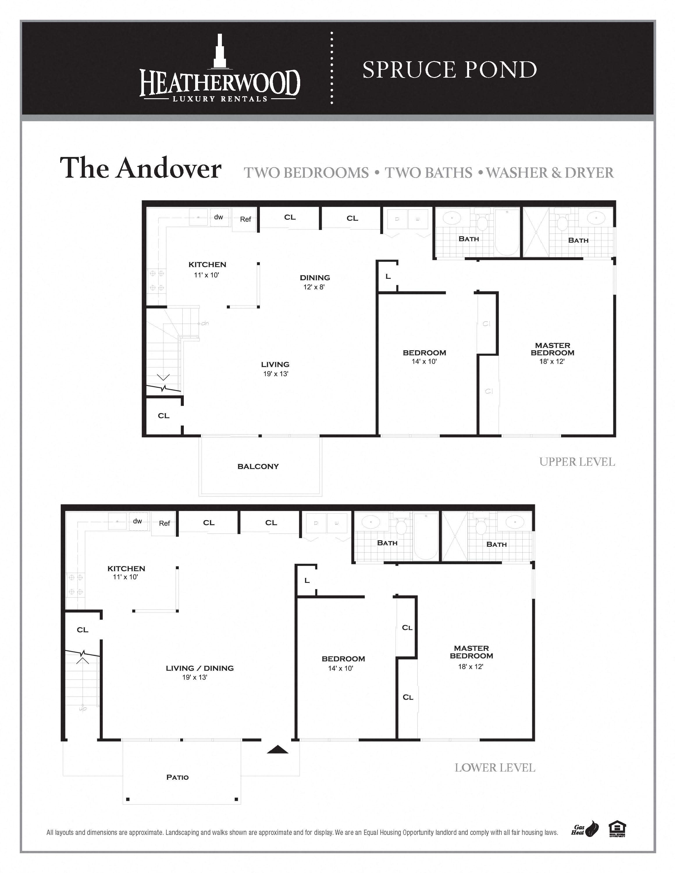 The Andover Floorplan at Spruce Pond