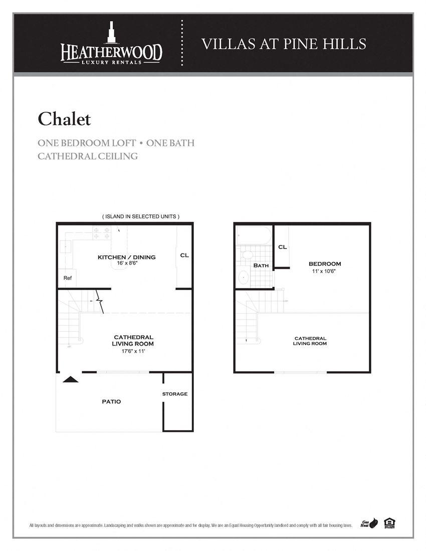 The Chalet Floorplan at Villas at Pine Hills, Manorville, NY