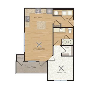 A1 One Bedroom Floorplan