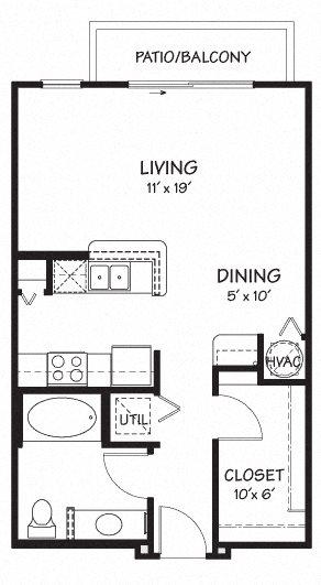 Studio Apartment |563 sq.ft. | The Reserve on Cave Creek
