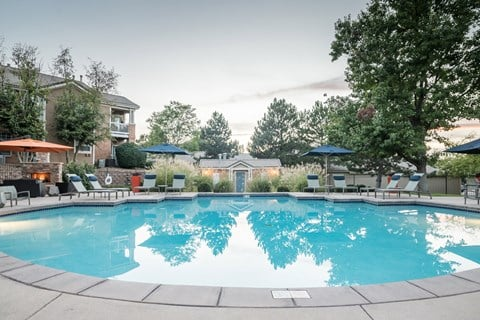 Sparkling Swimming Pool at The Bluffs at Highlands Ranch, Highlands Ranch