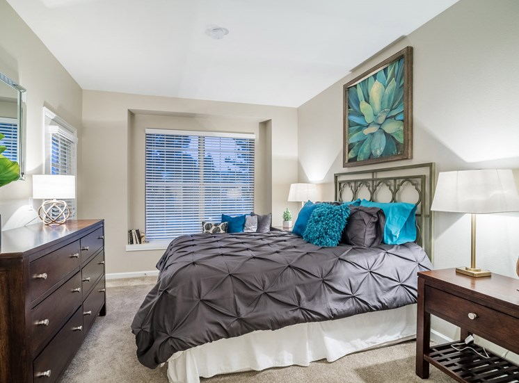 Spacious Bedroom With Comfortable Bed at The Bluffs at Highlands Ranch, Colorado, 80129