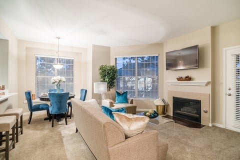 Glamorous Living Room at The Bluffs at Highlands Ranch, Highlands Ranch, CO
