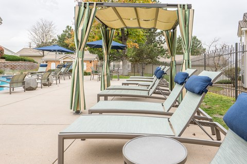 Entertainment Lounge By Pool at The Bluffs at Highlands Ranch, Colorado