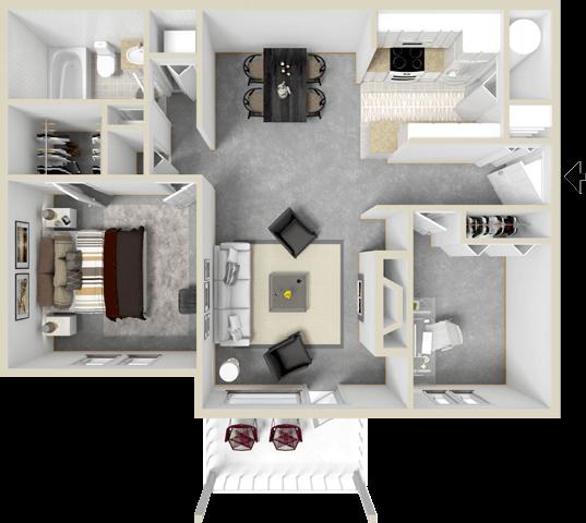 One bedroom apartment in Newport News VA