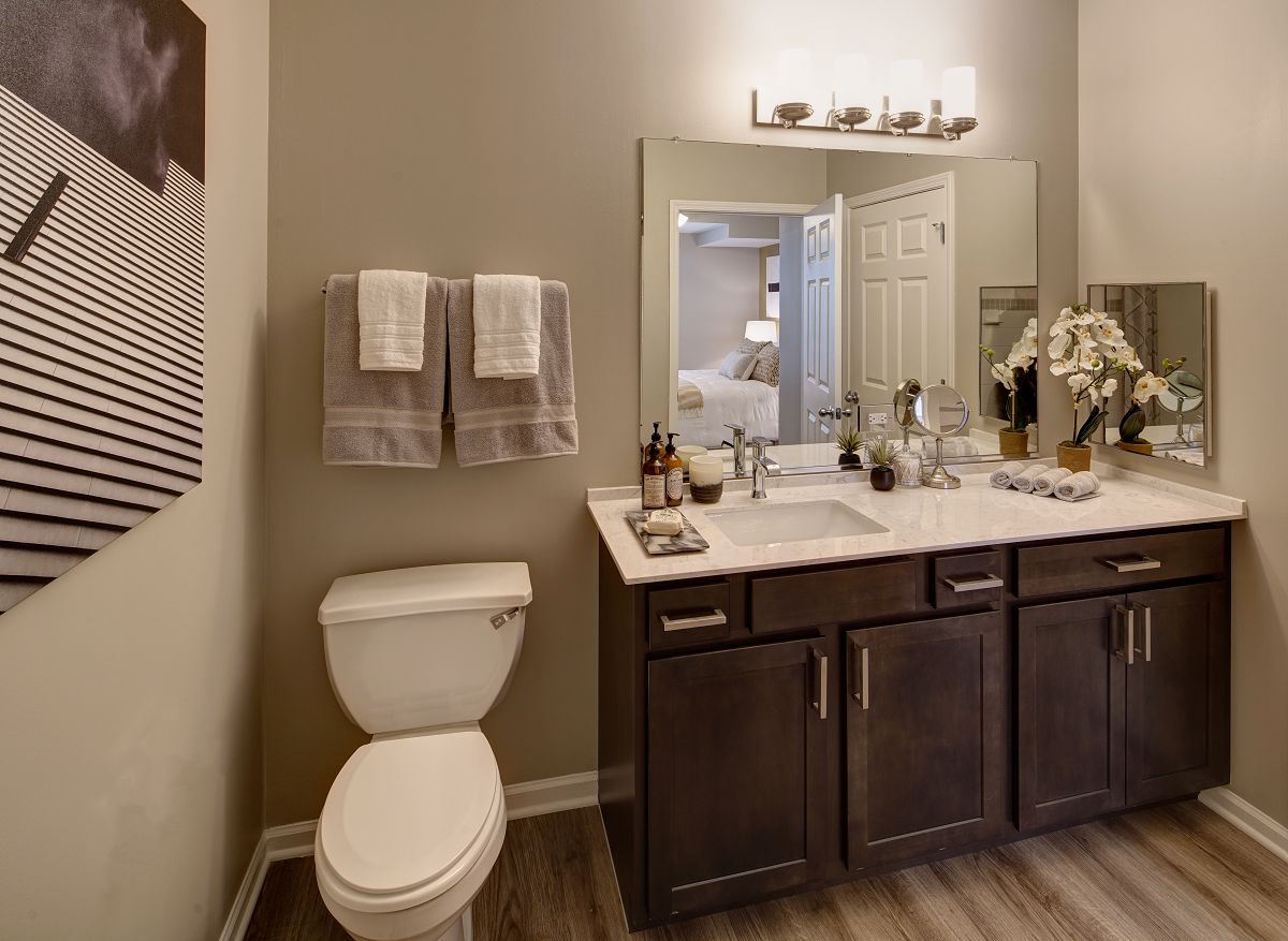 spacious bathroom at City View at the Highlands, Lombard, IL, 60148