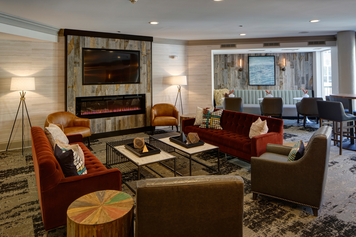 Stylish Clubhouse at City View at the Highlands, Lombard, IL, 60148