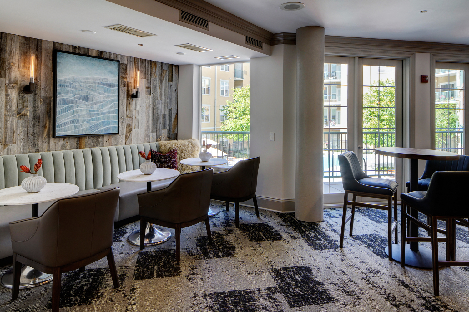 Clubhouse with Upgraded Interiors at City View at the Highlands, Lombard, Illinois