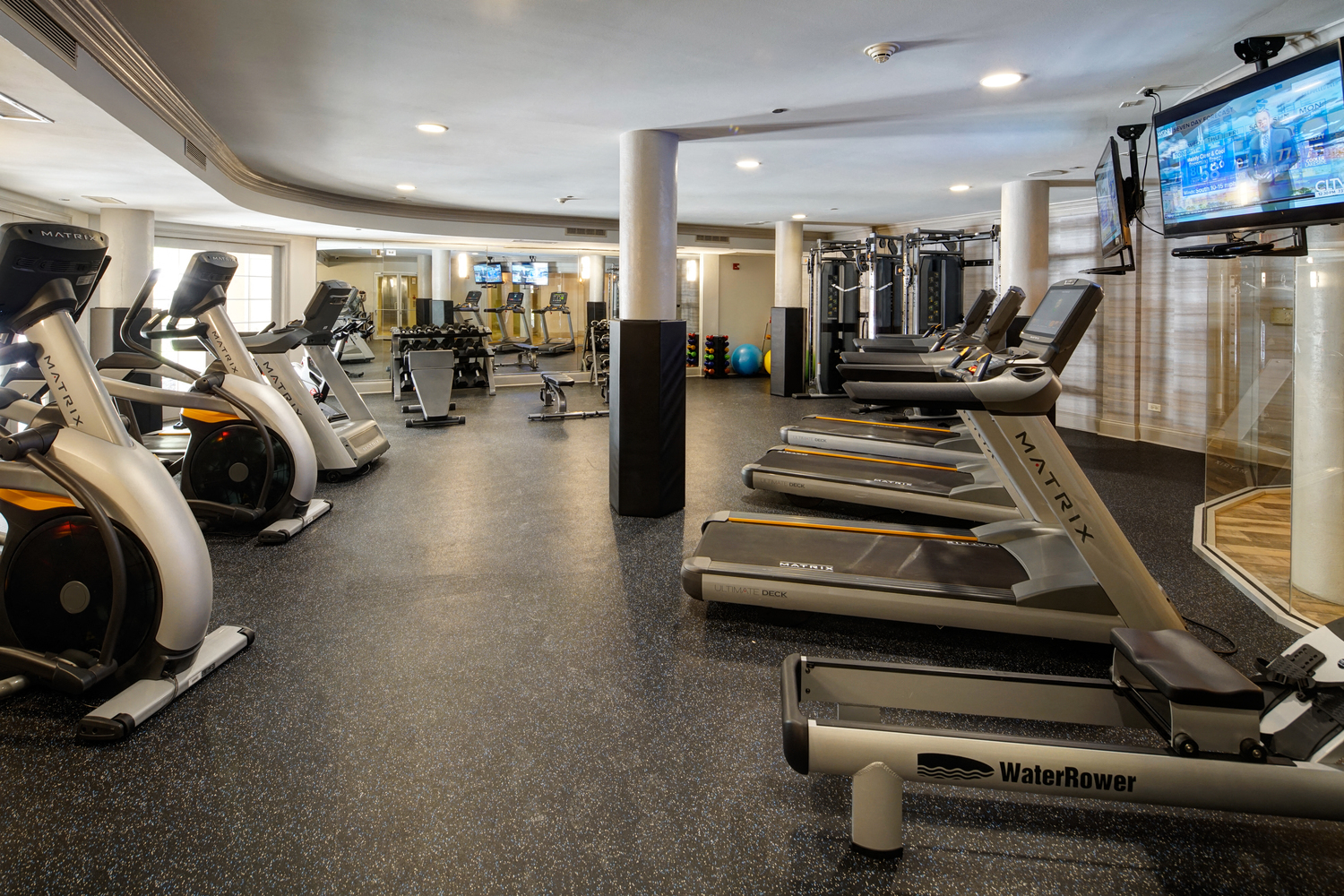 Fully Equipped Fitness Center at City View at the Highlands, Lombard, IL, 60148