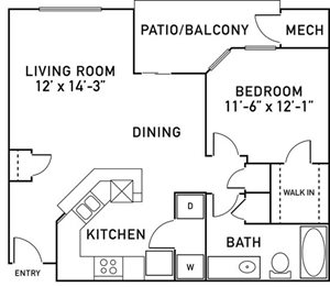 A2 Floorplan at City View at the Highlands, Lombard, IL