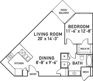 A3 Floorplan at City View at the Highlands, Lombard, IL, 60148