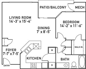 A4 Floorplan at City View at the Highlands, Illinois, 60148