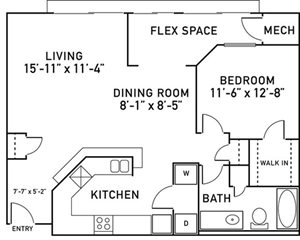 A5 Floorplan at City View at the Highlands, Illinois