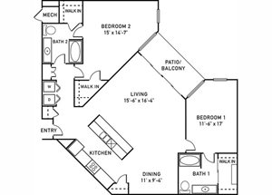 B4 Floorplan at City View at the Highlands, Lombard, IL