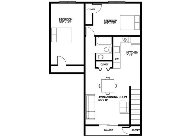 Columbia Gardens 2 Bedroom
