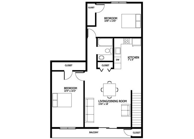Columbia Gardens 2 Bedroom - Master