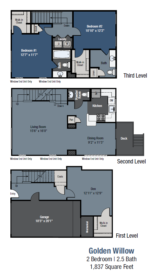 Golden Willow - Townhome Floor Plan 8