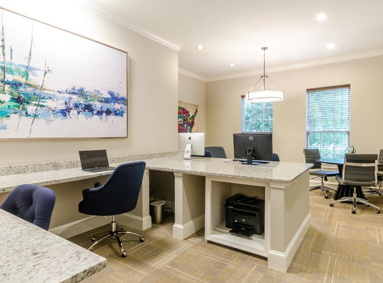 Business Center with PC and Mac Desktops, Riverstone at Owings Mills
