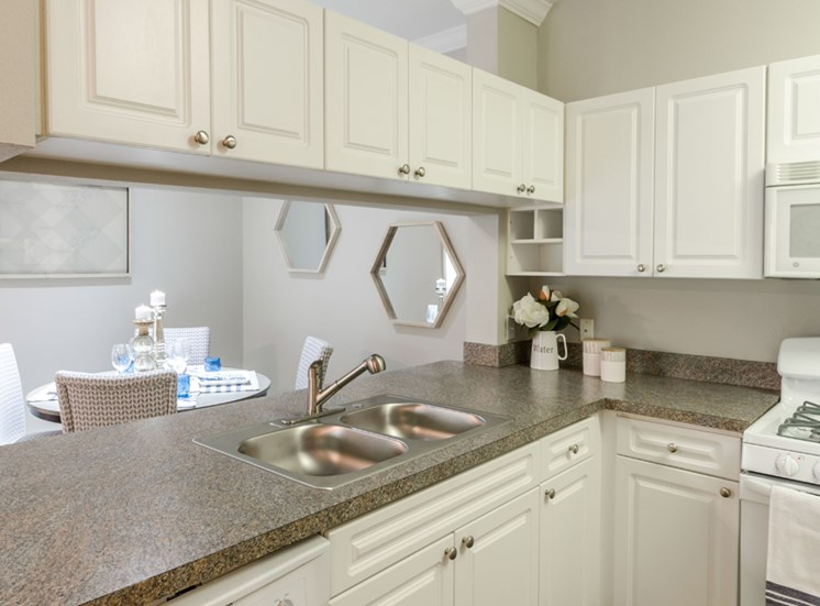White-on-white Kitchen, Riverstone at Owings Mills