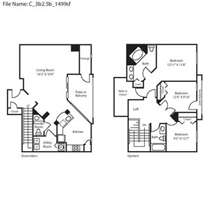 floor plan | The Arbors At Carrollwood Apartments in Tampa, FL