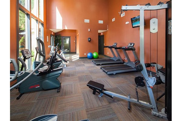 Fully Equipped Fitness Center at The Pointe at Norcross in Norcross, GA