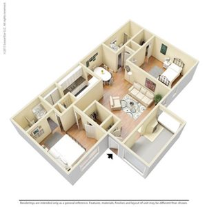 Centenial Floorplan at The Pointe at Norcross