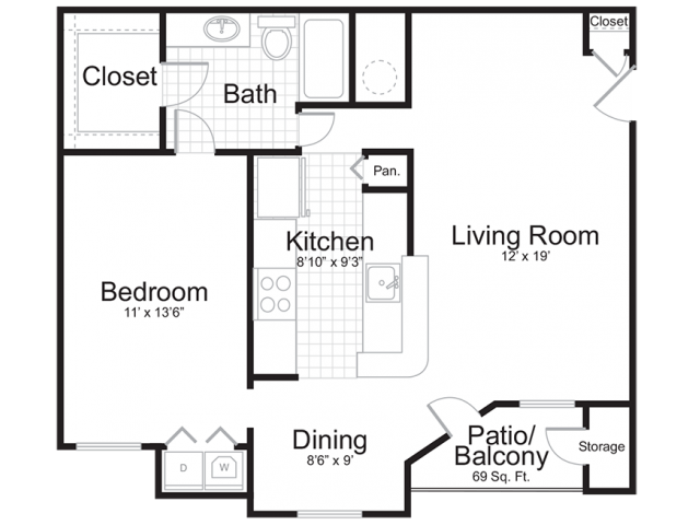 One Bedroom | One Bathroom