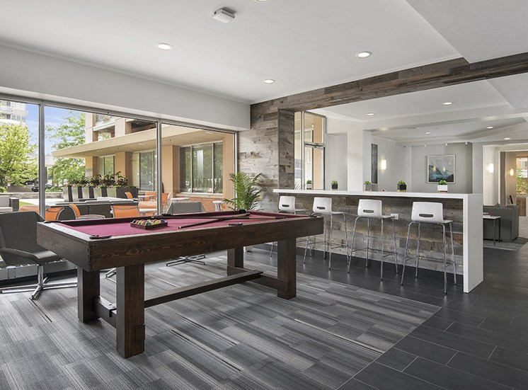 Pool Table and Resident Lounge at The Bryn, Chicago, IL
