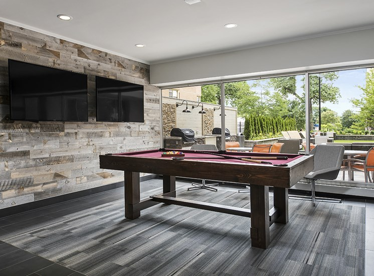 Pool Table and Televisions at The Bryn, Chicago, 60660