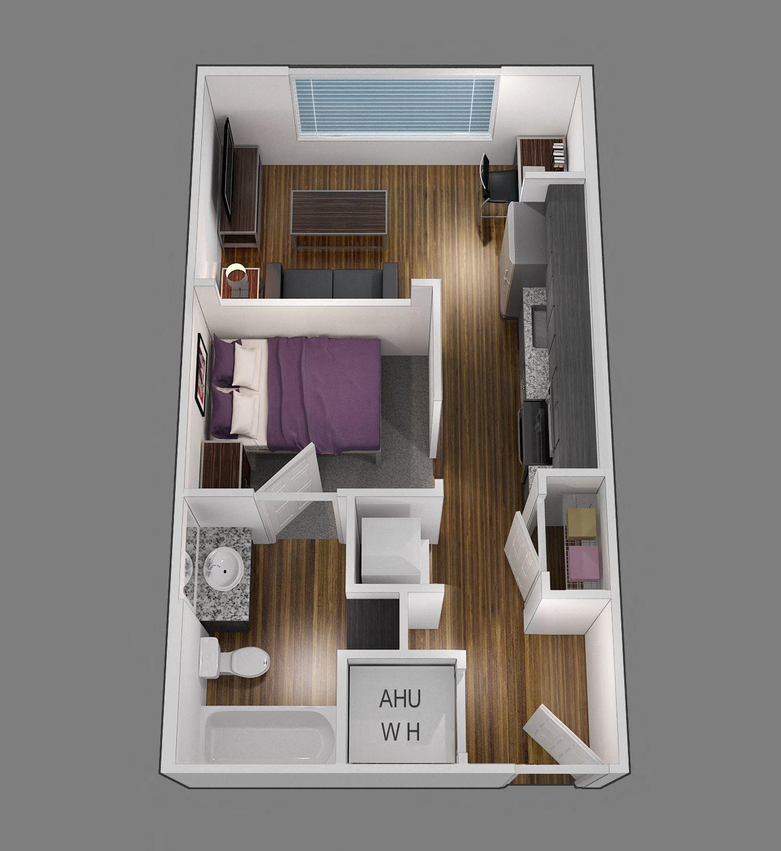 studio premium location floor plan 2