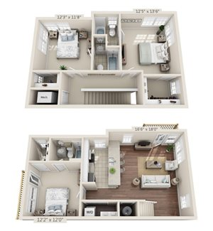 Lyons Corner 3 Bed 3 Bath Floor Plan