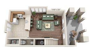 Lyons Corner Townhouse Level 1 Floor Plan