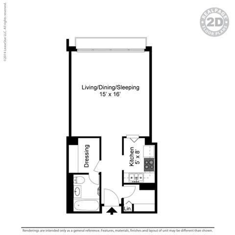 STUDIO (SA) 3D Floorplan at York Terrace