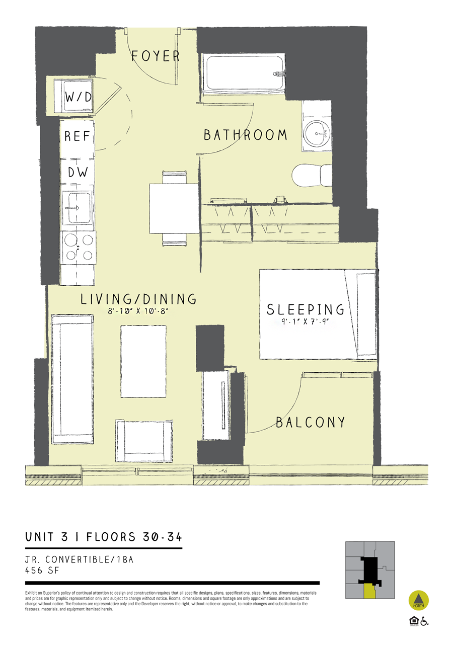 Jr. Convertible 03 Floor Plan 1