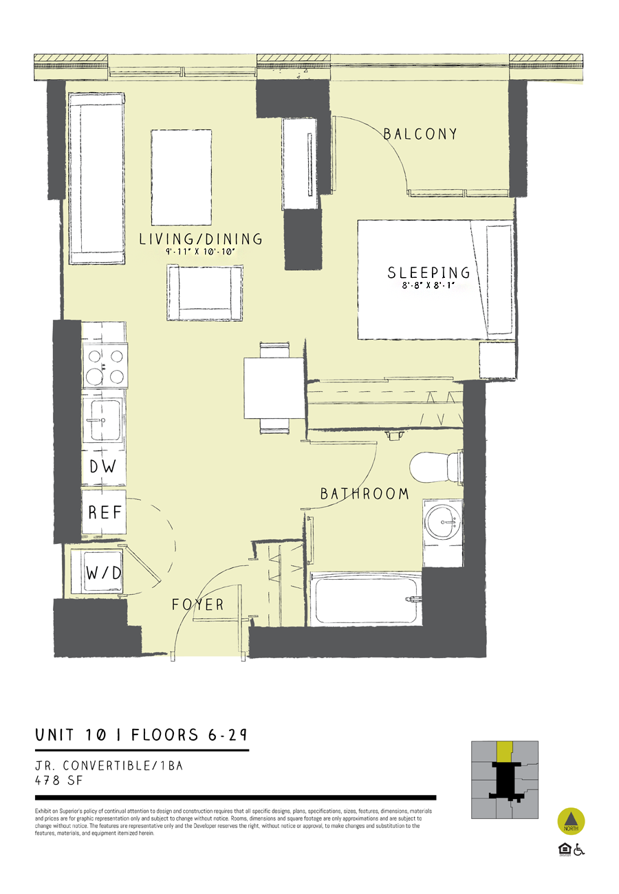Jr. Convertible 10 Floor Plan 2