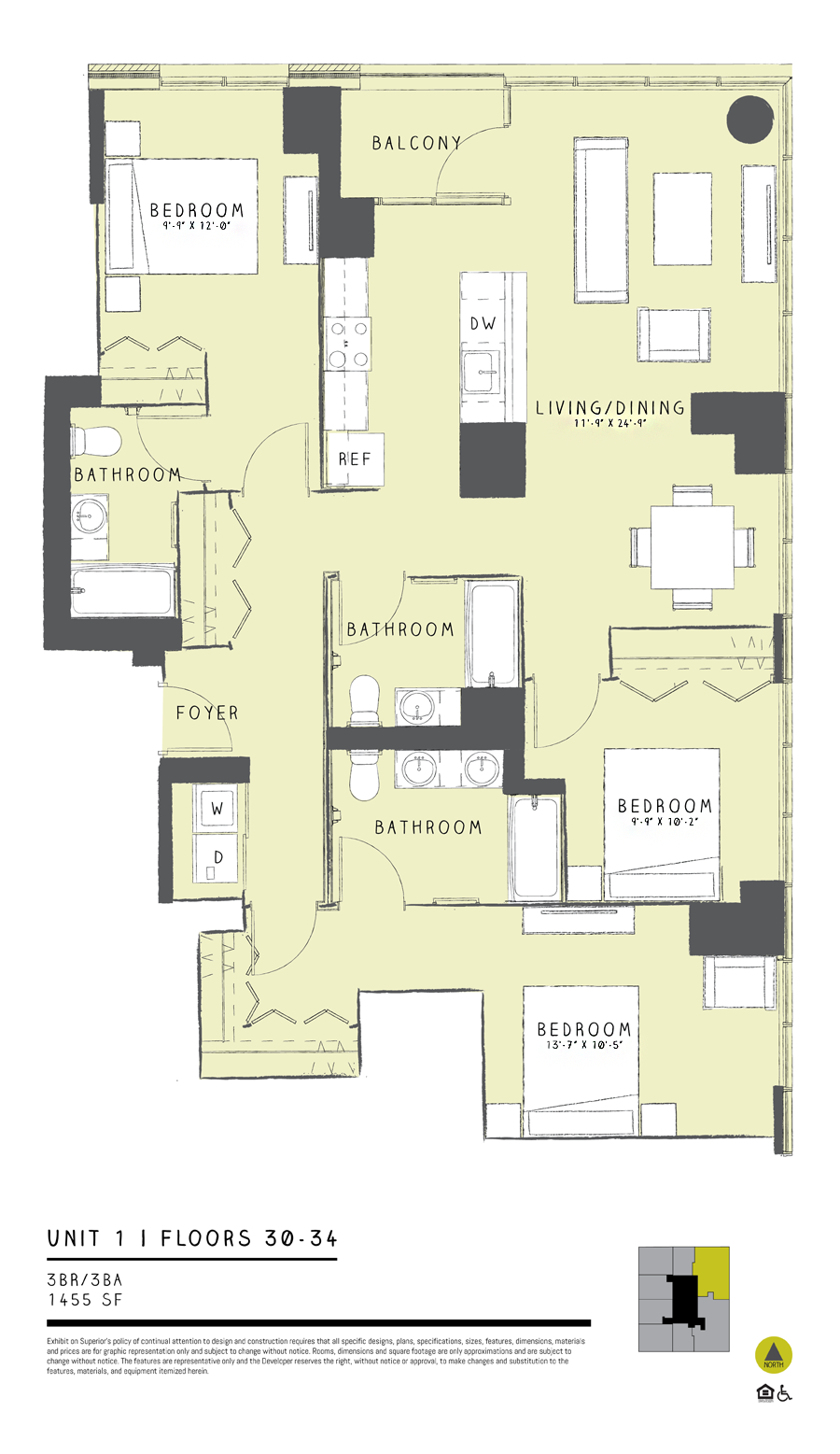 Three Bedroom 01 Floor Plan 13