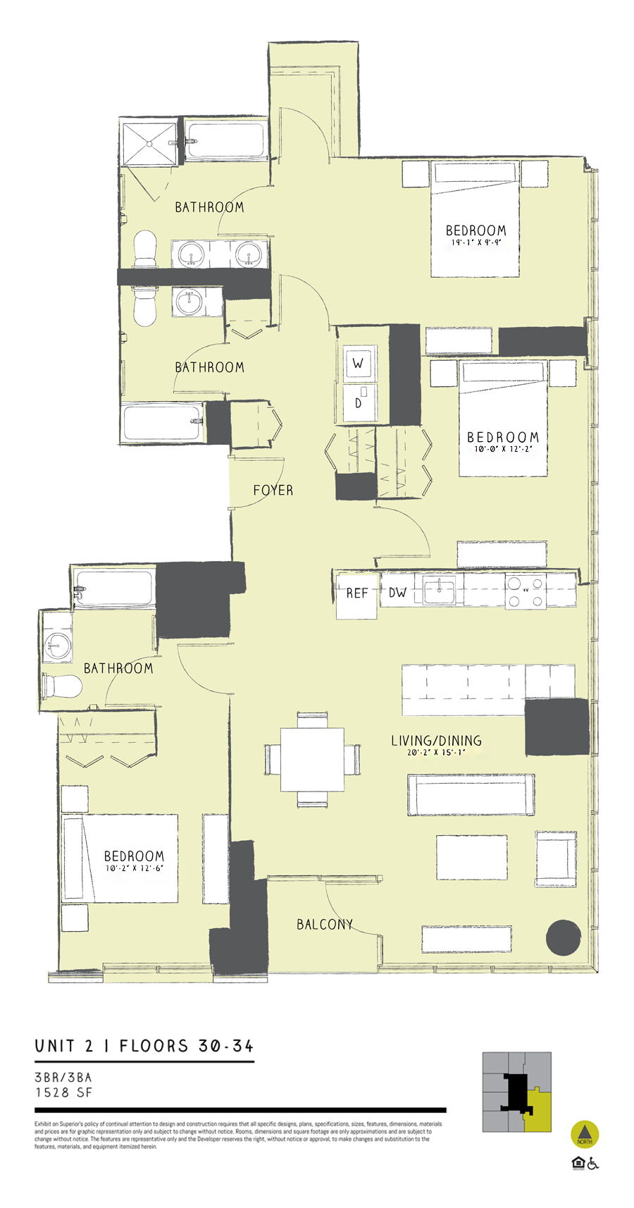 Three Bedroom 02 Floor Plan 14