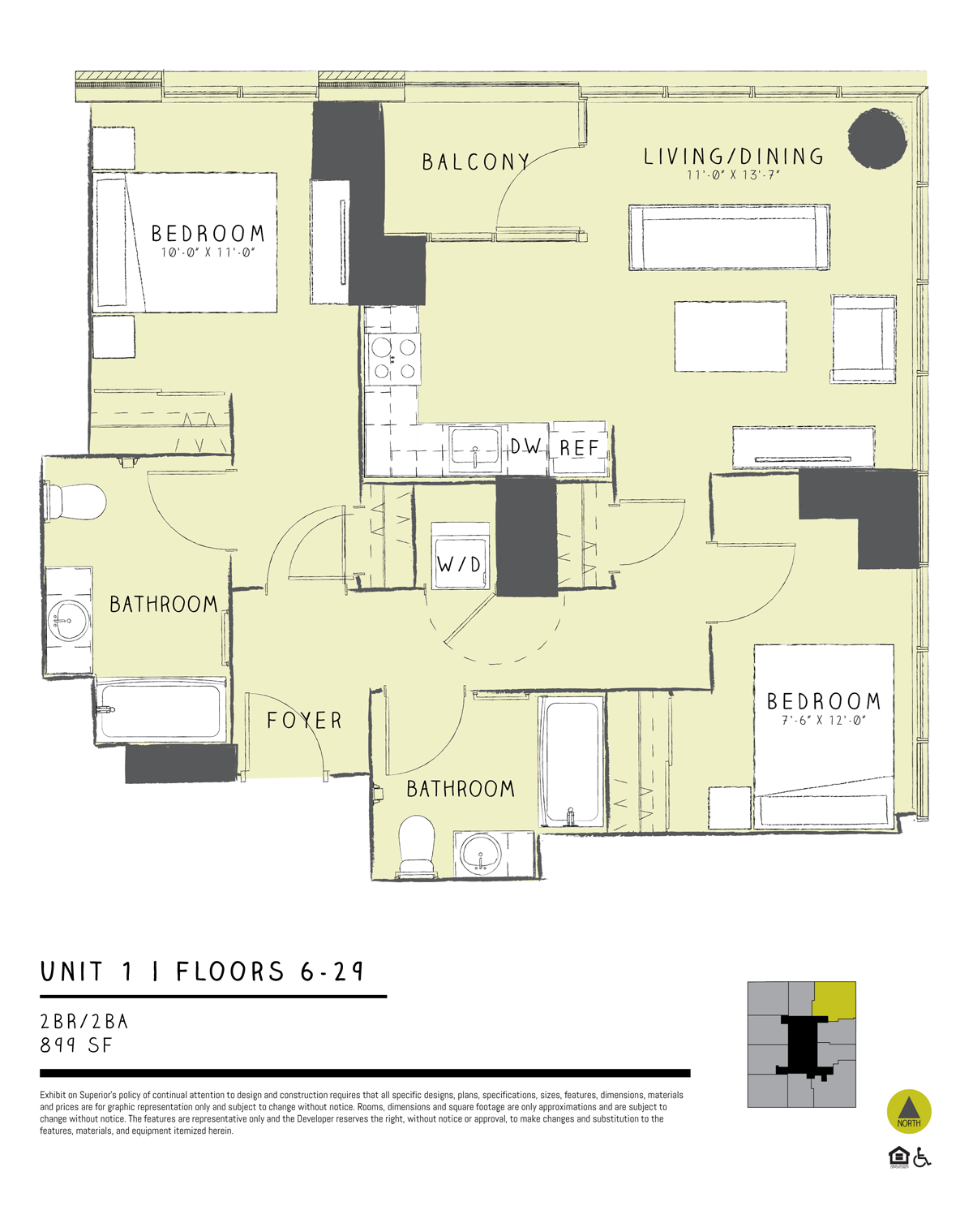 Two Bedroom 01A Floor Plan 12