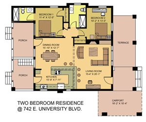 2 Bed 2 Bath Residence