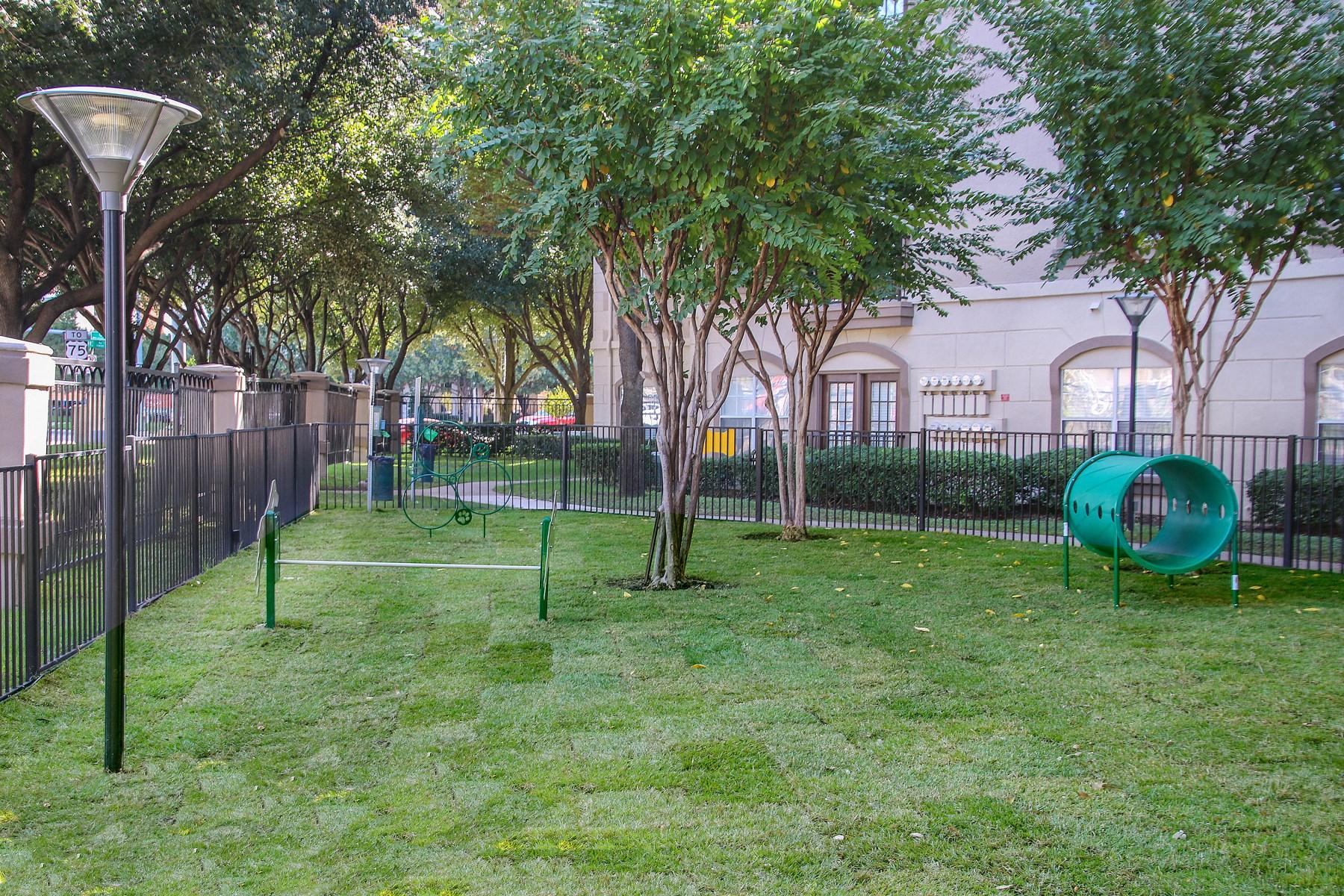Dog Park at 7900 at Park Central Apartments in Dallas, TX