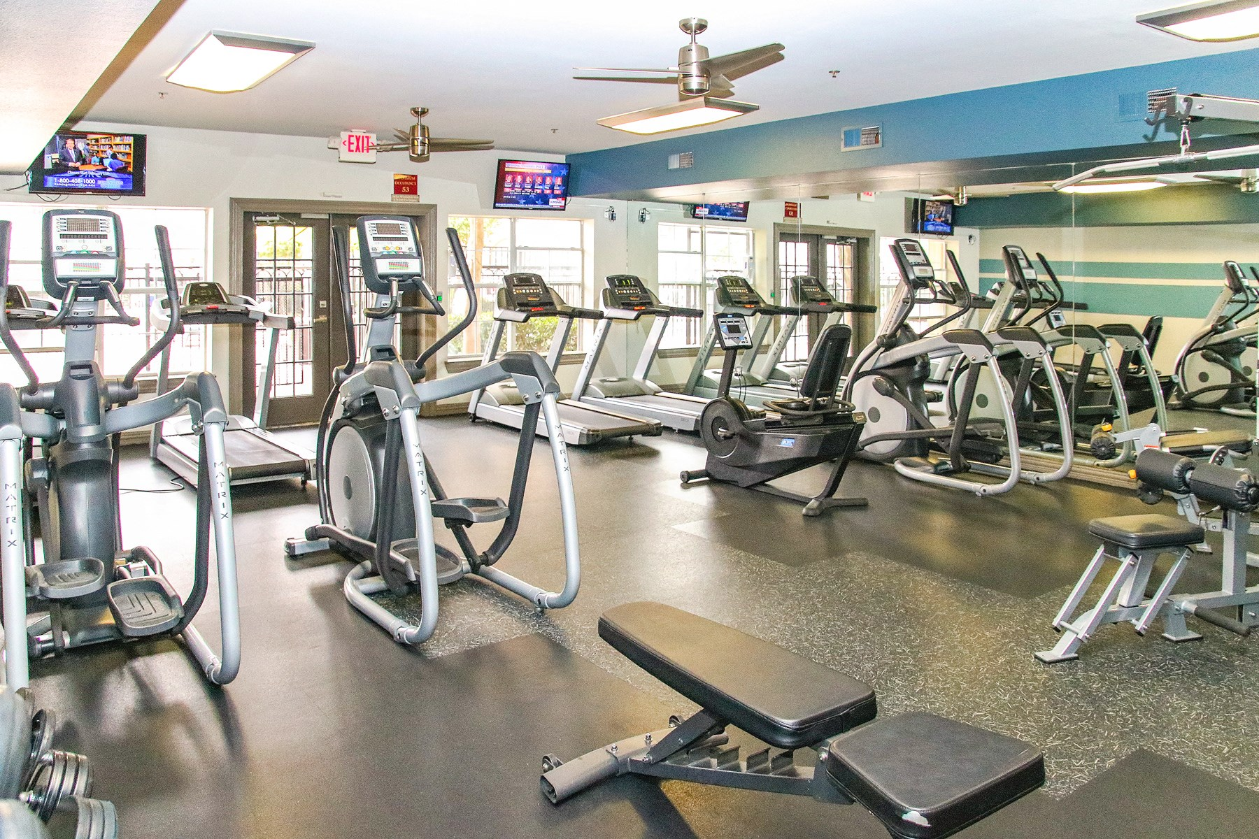 Fitness Center at 7900 at Park Central Apartments in Dallas, TX