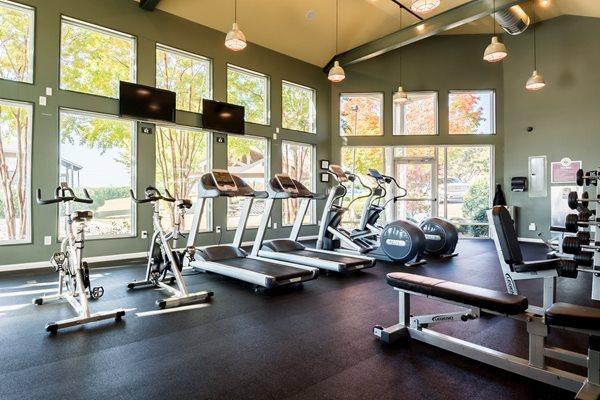 Fitness Center at Hudson Orchard Park Apartments, South Carolina