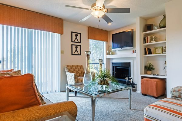 Model Home with Fireplace at Hudson Orchard Park Apartments, 29615