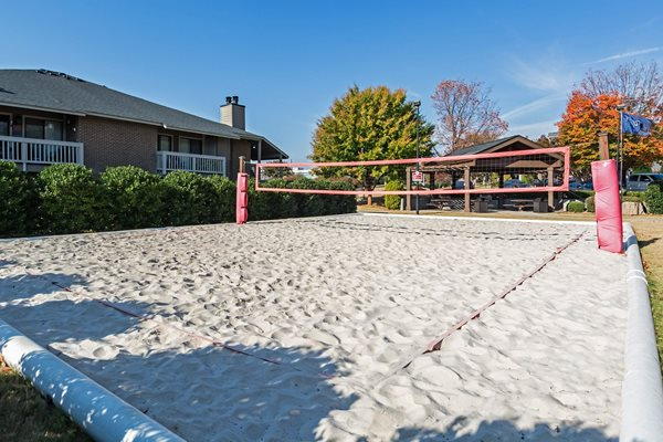 Sand Volleyball Court at Hudson Orchard Park Apartments, South Carolina